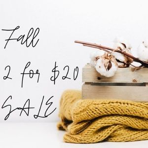 All 🍁 marked items 2/$20!